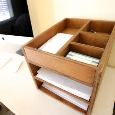 Wood Desk Organizer - Charleston Crafted