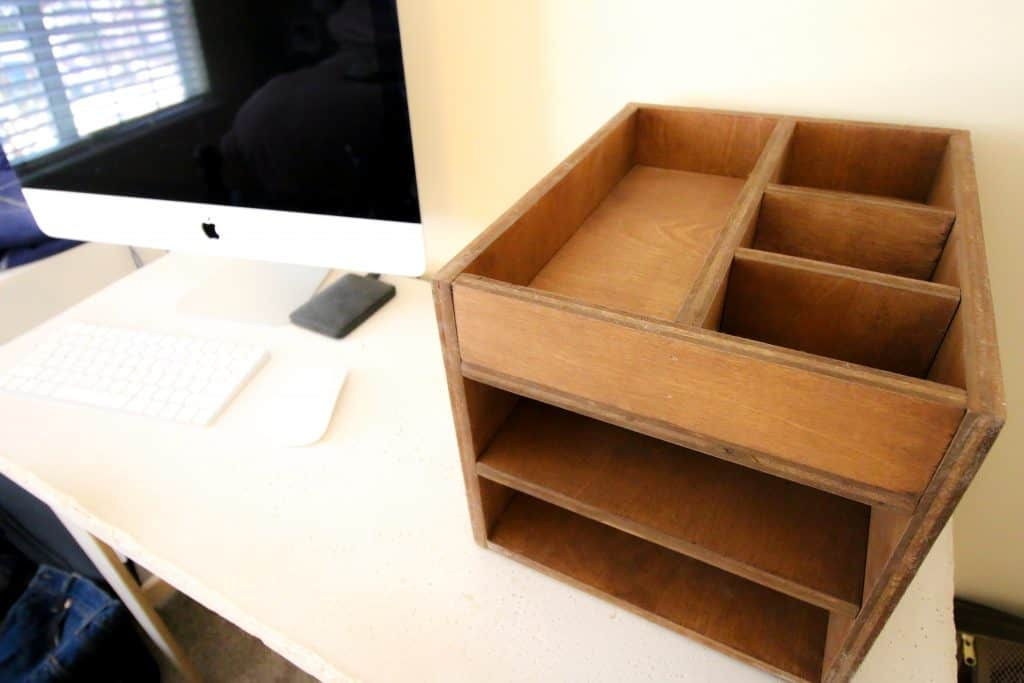 Wood Desk Organizer - Charleston Crafted
