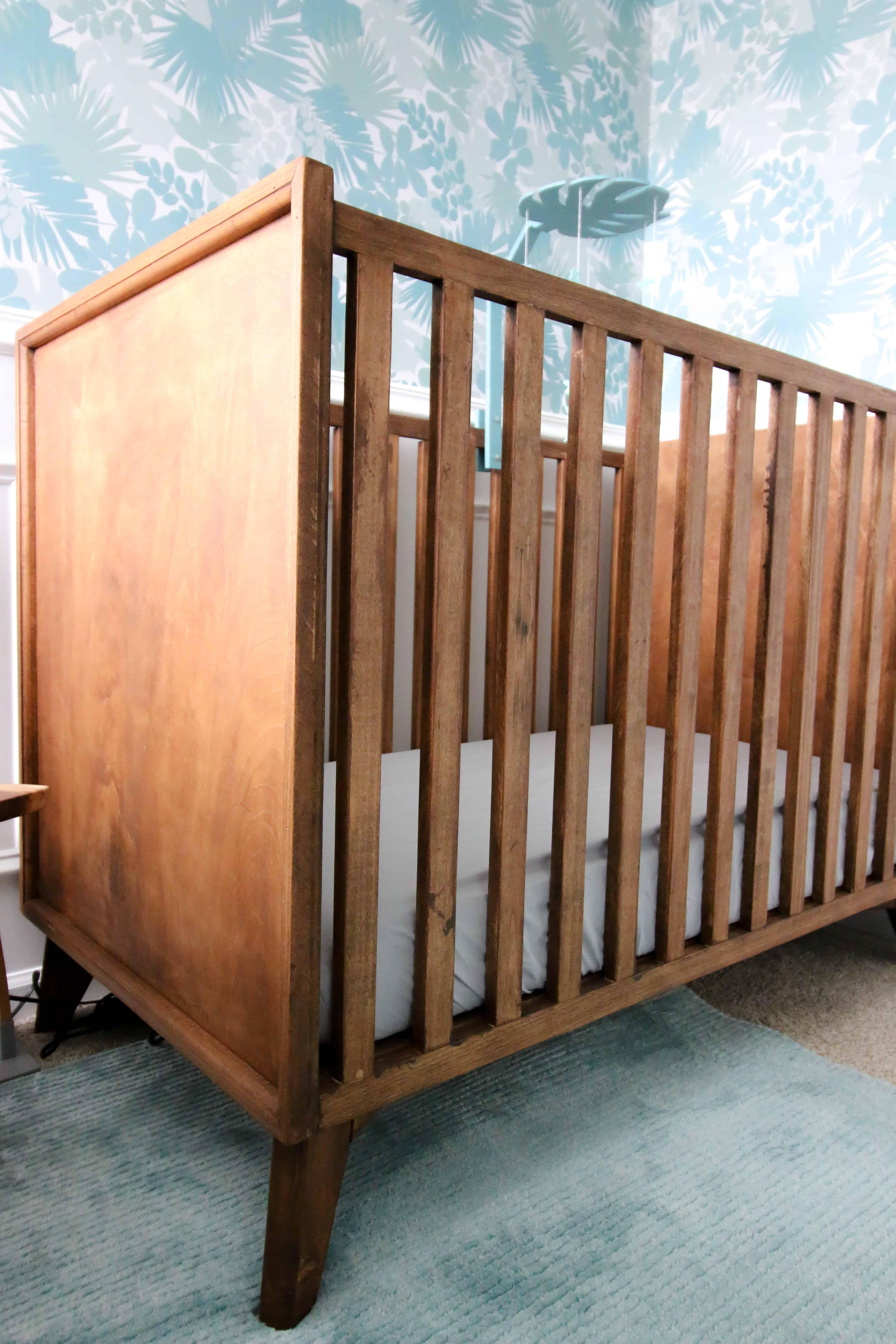 DIY mid century modern crib