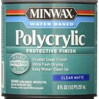 Minwax Polycrylic Protective Finish Water Based, 1/2 pint, Matte