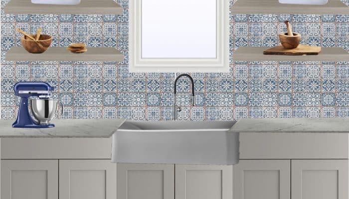 Blue & Gray Kitchen Design