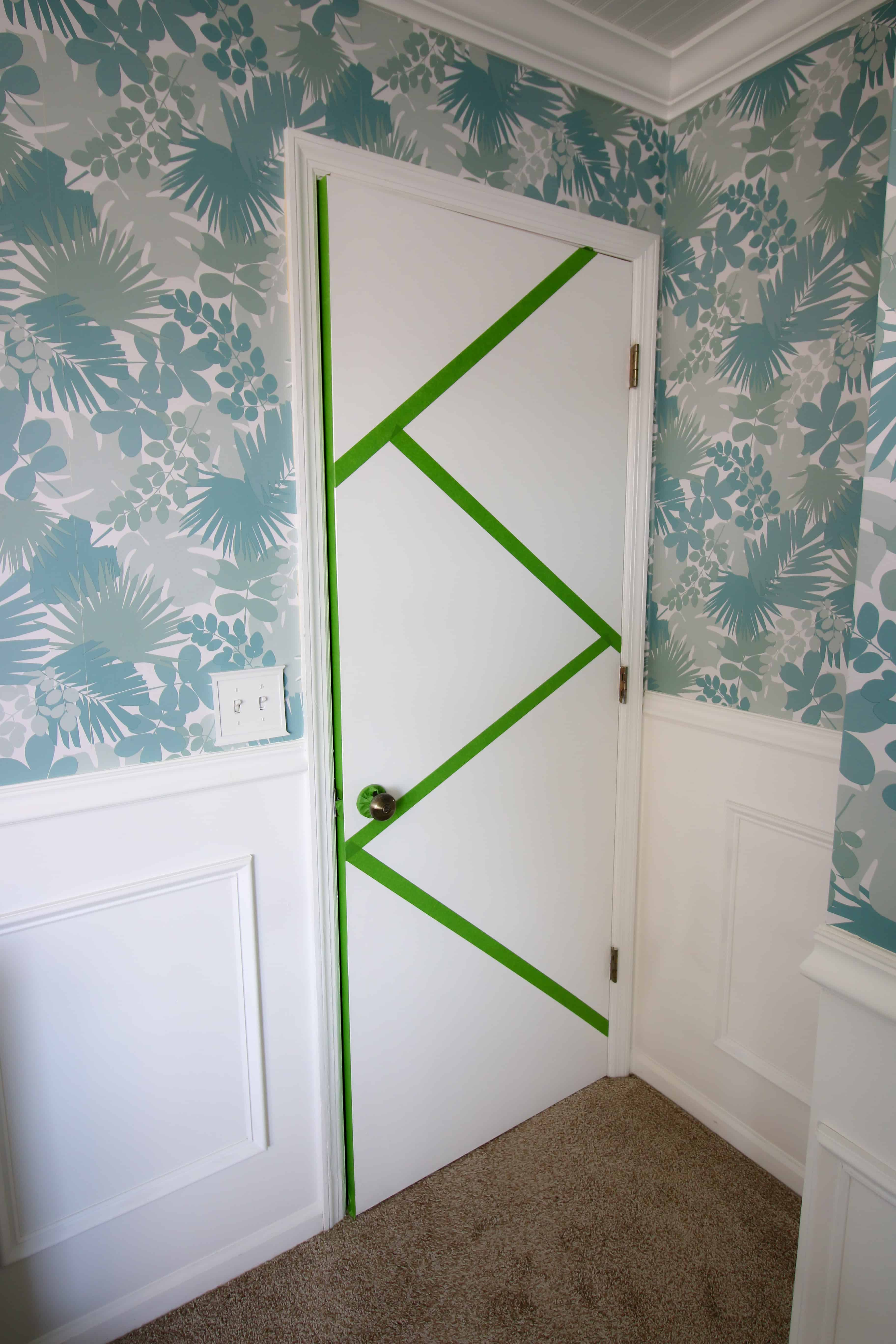 Geometric Painted Door - Charleston Crafted