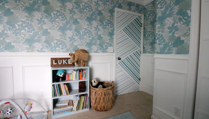 Geometric Painted Door