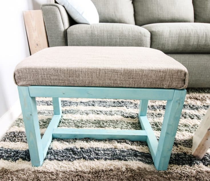 Quick and Easy DIY Ottoman