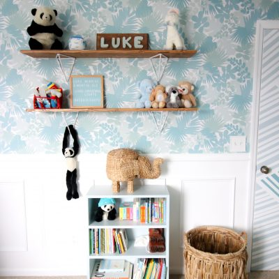 How we added nursery shelves