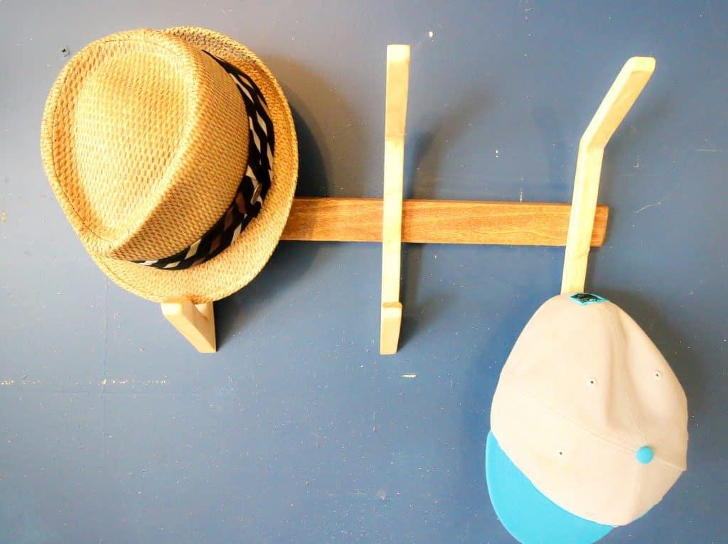 DIY Wooden Hat Rack - Charleston Crafted