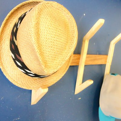 DIY Wooden Hat Rack