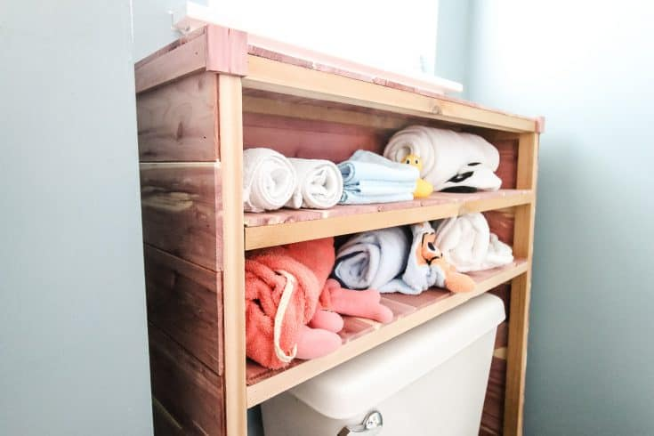 Over the Toilet Storage - Charleston Crafted