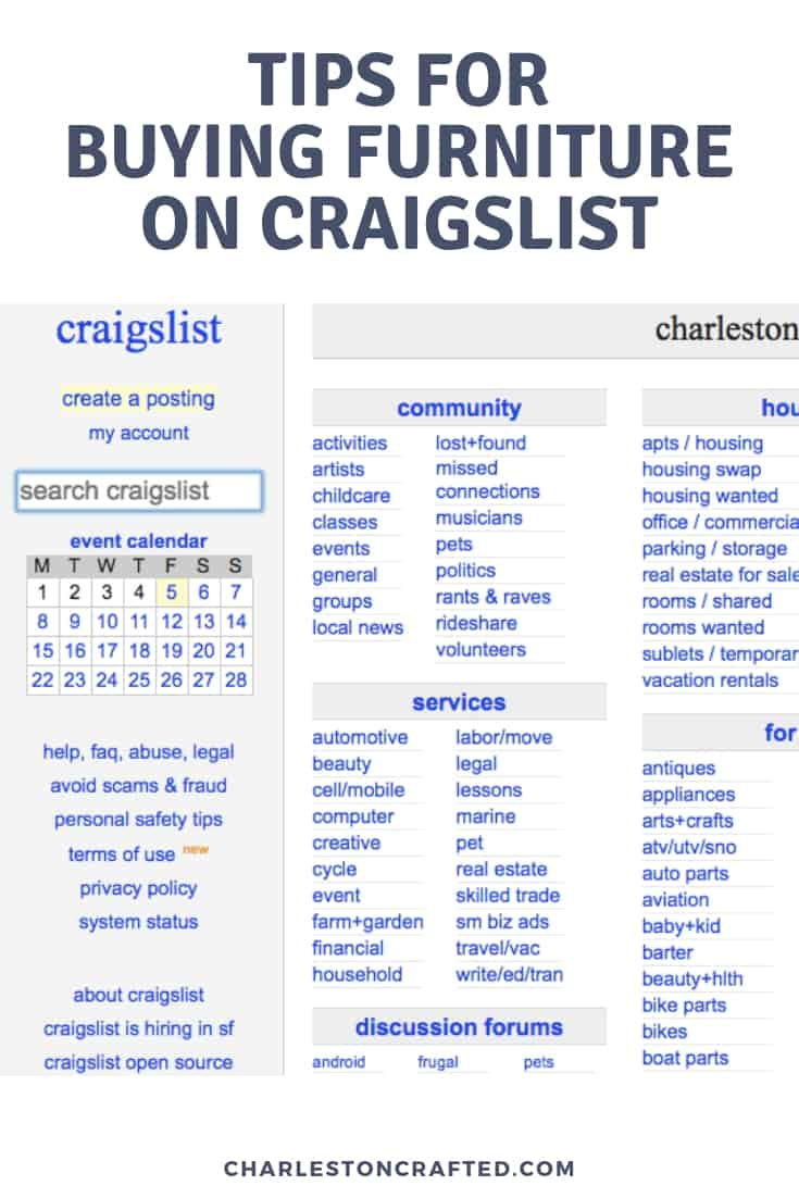tips for buying furniture on craigslist