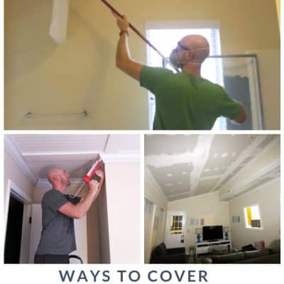Ways to cover popcorn ceilings