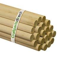 """Wooden Dowel Rods - 1"""""""