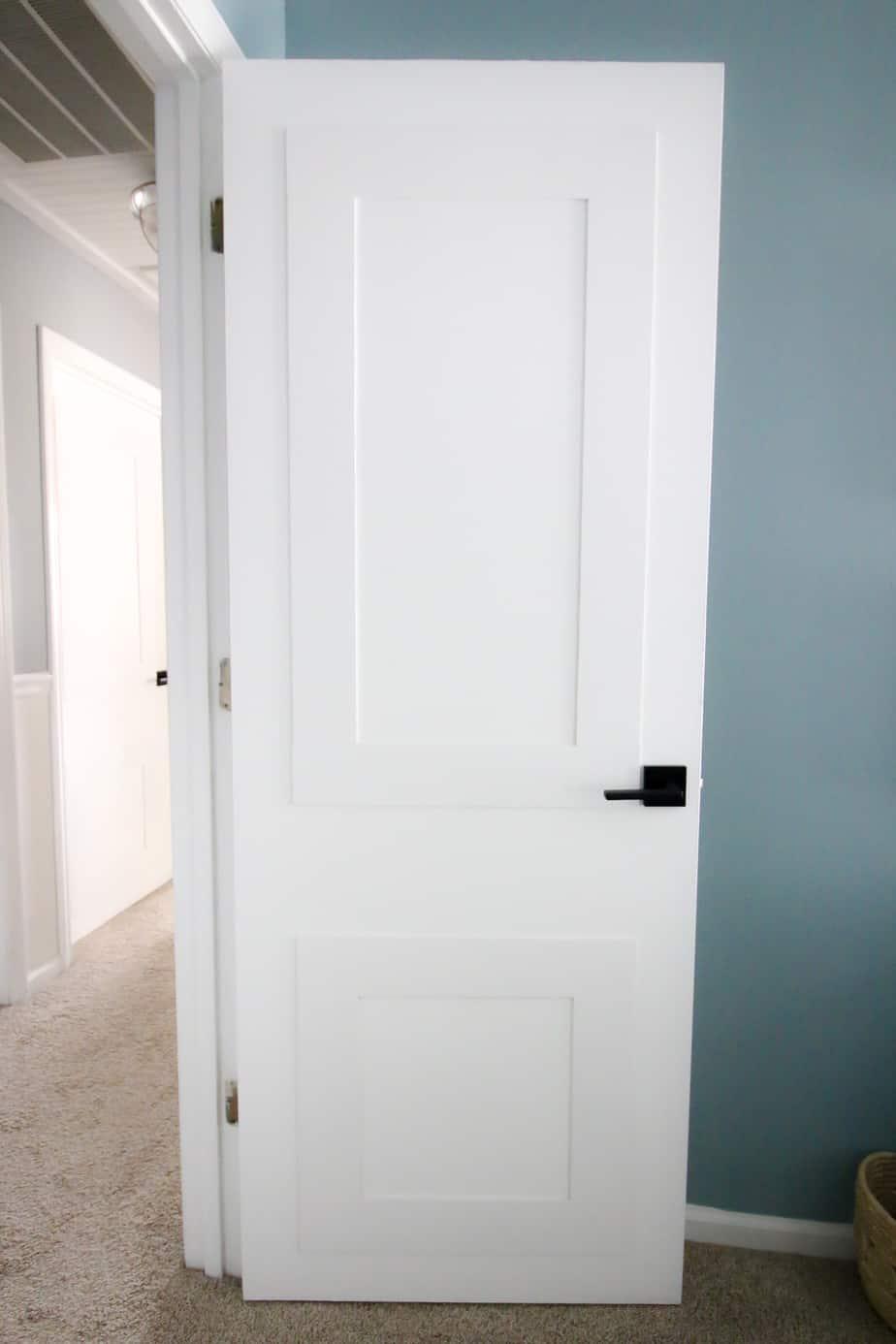 Updating Interior Doors with Molding