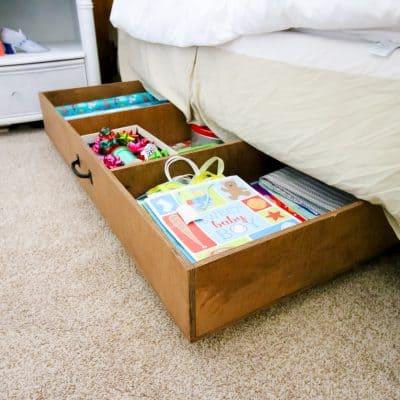 DIY Under Bed Storage - Charleston Crafted