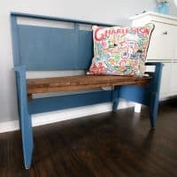 How to make a bench from a headboard