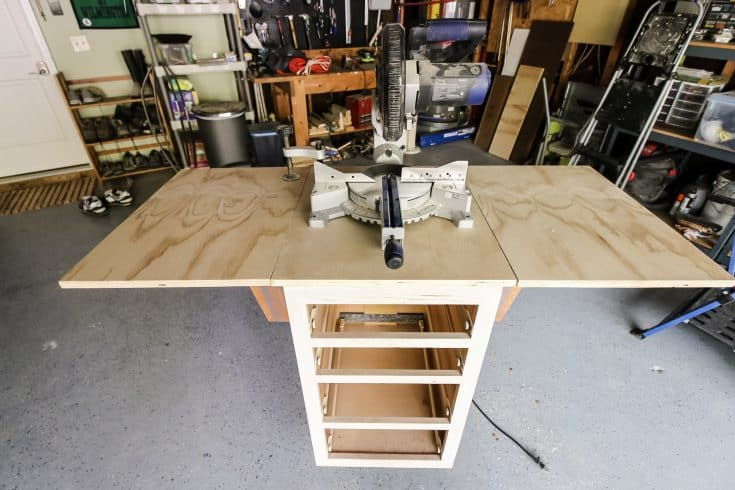 Mobile Miter Saw Station Upcycle