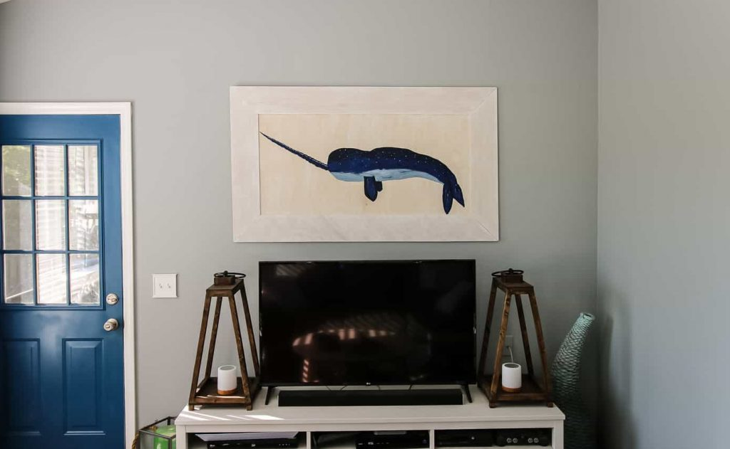 Narwhal Acrylic Paint on Wood - Charleston Crafted