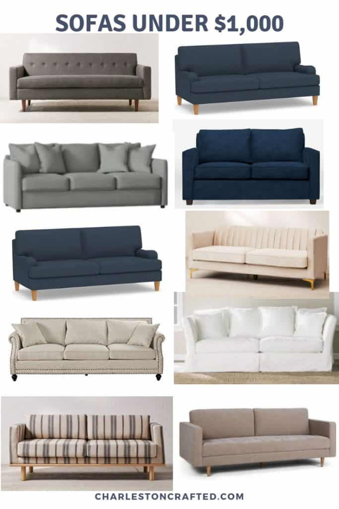 cheap sofas under $1000