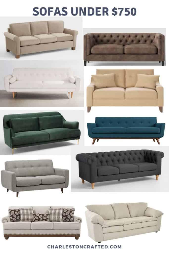 cheap sofas under $750