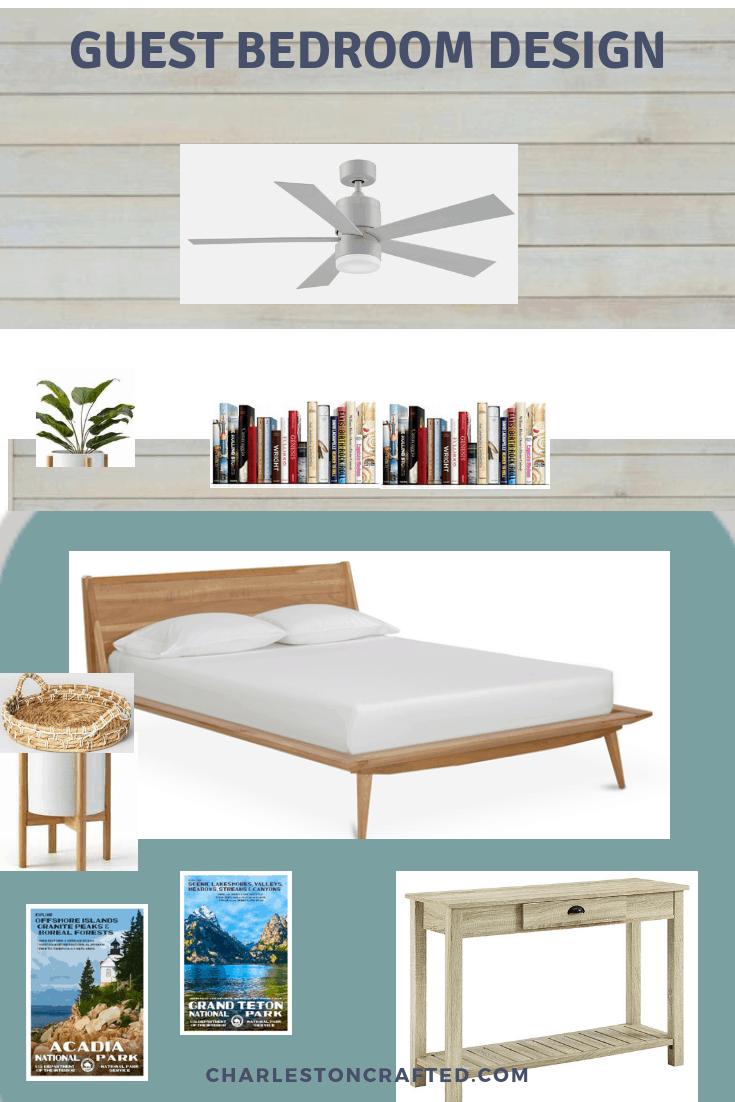 guest bedroom mood board