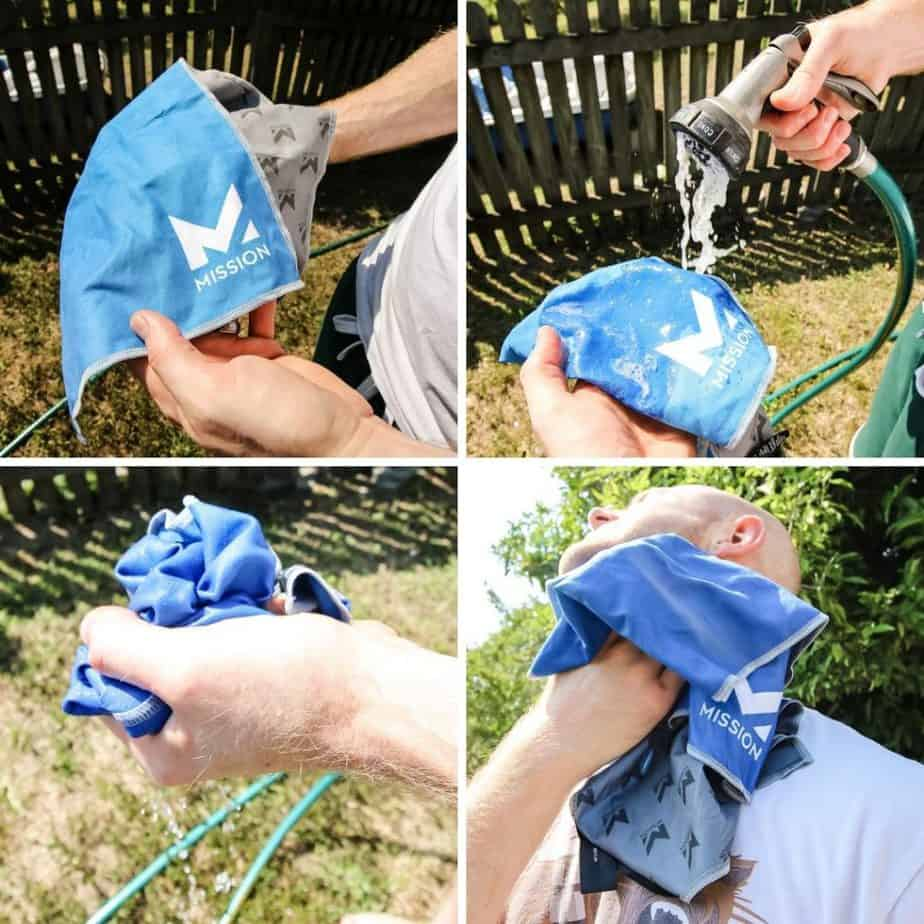how to use mission cooling towel