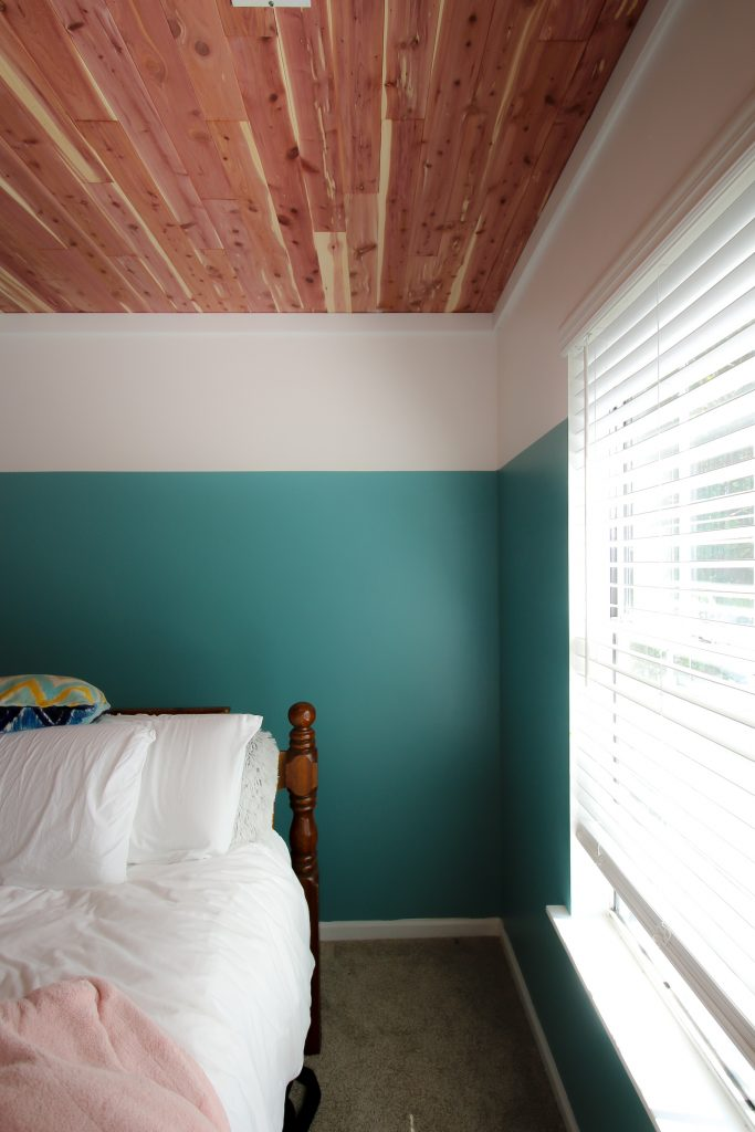 how to paint a color block wall