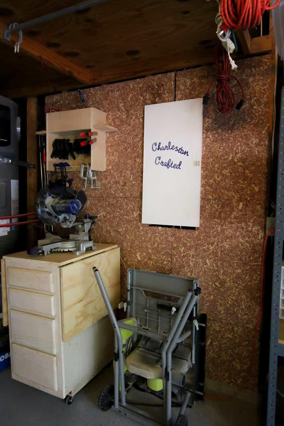 cedar flakeboard in a garage