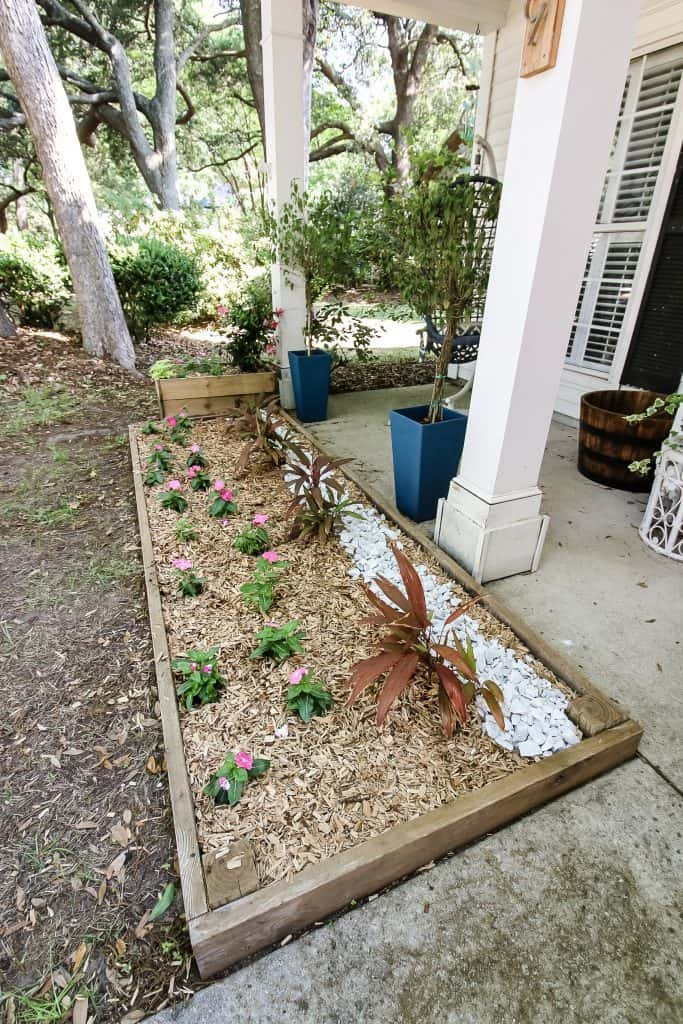 Front yard flower bed
