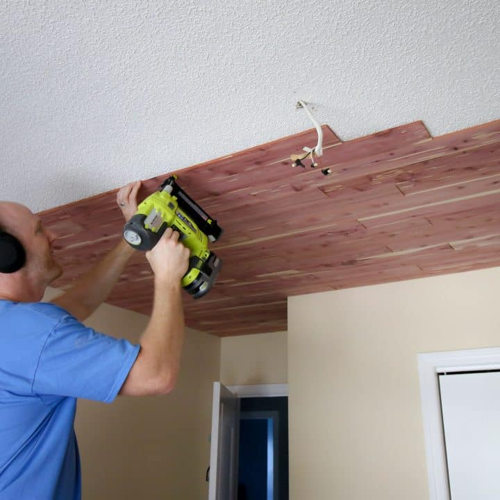 How to Install Tongue and Groove Plank Ceiling