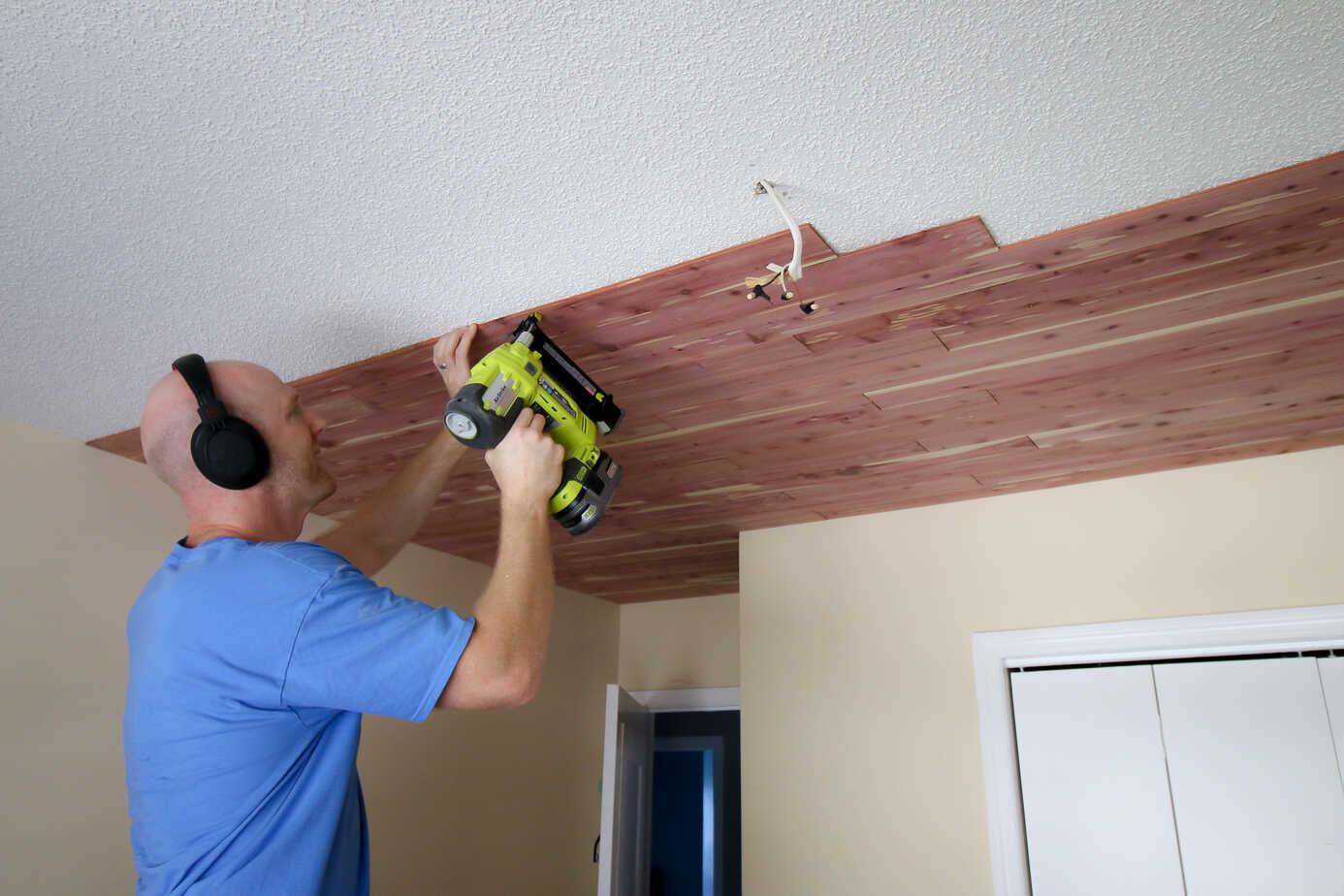 Tongue Groove Cedar Plank Ceiling