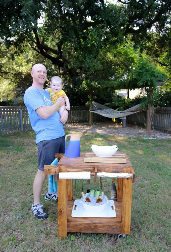 Outdoor Grill Cart - Charleston Crafted