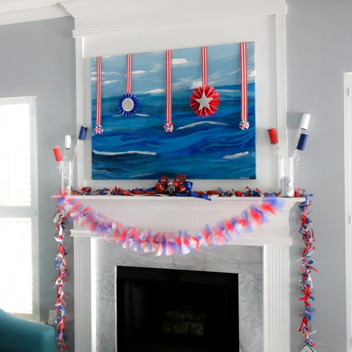 How to make a fabric garland
