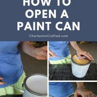 How to open a paint can(the easiest + cleanest way)