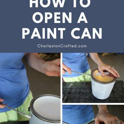 How to open a paint can + VIDEO (the easiest + cleanest way)