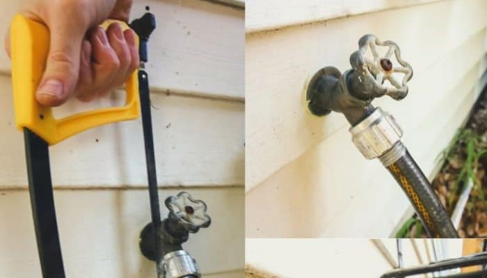 How to remove a stuck hose from an outdoor spigot