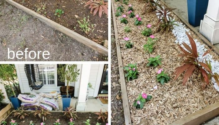 Front yard flower bed refresh