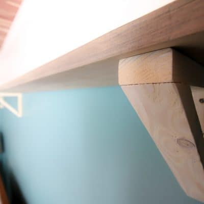 How to make DIY Wood Triangle Shelf Brackets