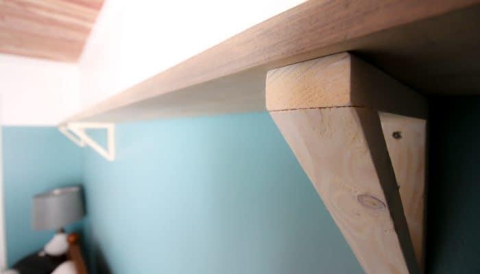 DIY Triangle Shelf Brackets