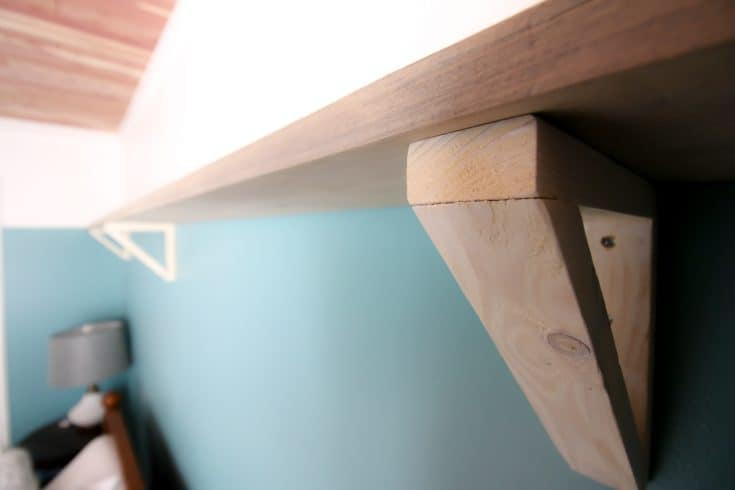 DIY Triangle Shelf Brackets - Charleston Crafted