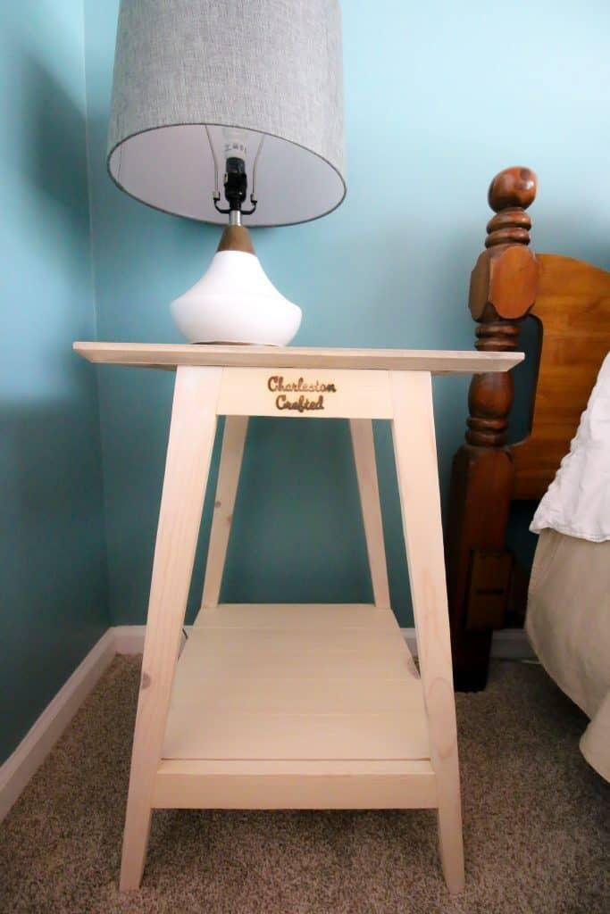 DIY Mid Century Modern Side Table - Charleston Crafted