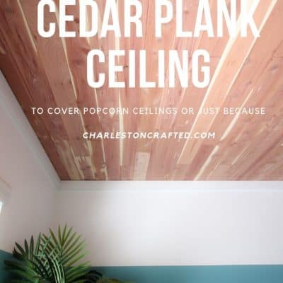 How to install a tongue & groove cedar plank ceiling