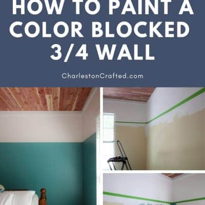 How to paint a DIY color block wall