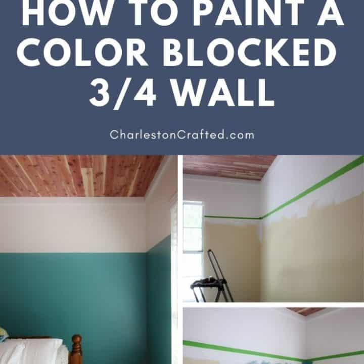 How to paint a color blocked wall