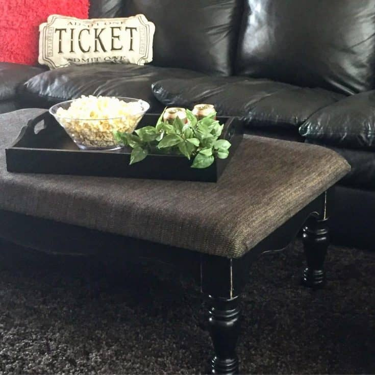 Old Table Turned Into New Ottoman