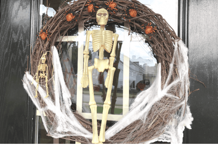 Dollar Tree Halloween Wreath and Porch