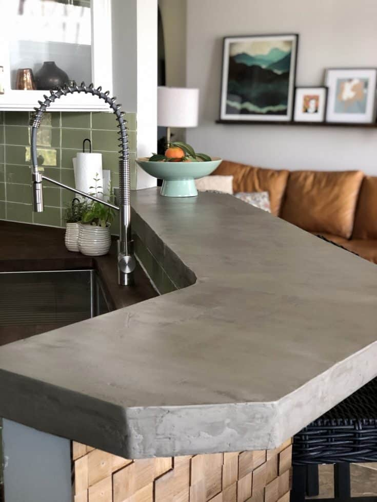 How to DIY a Concrete Bar Top - In a weekend!