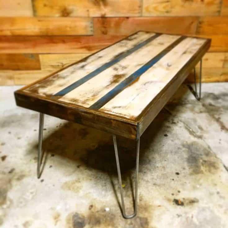 Pinstripe Coffee Table - Lazy Guy DIY