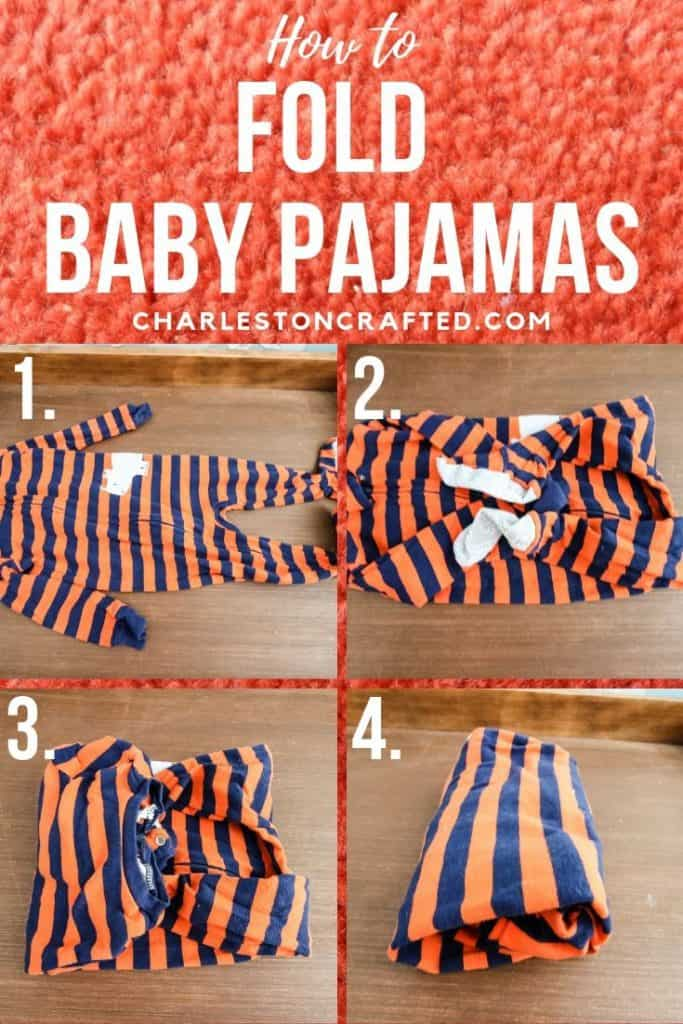 How to fold baby pajamas