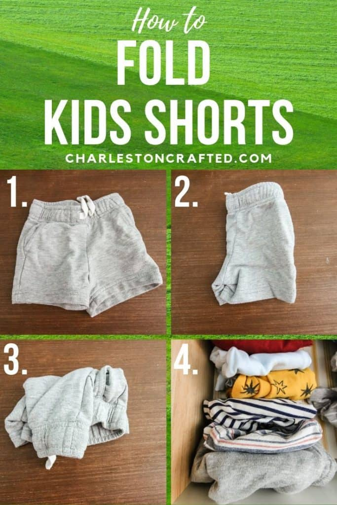 How to fold kids shorts