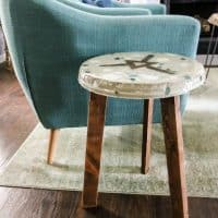 How to make a terrazzo side table