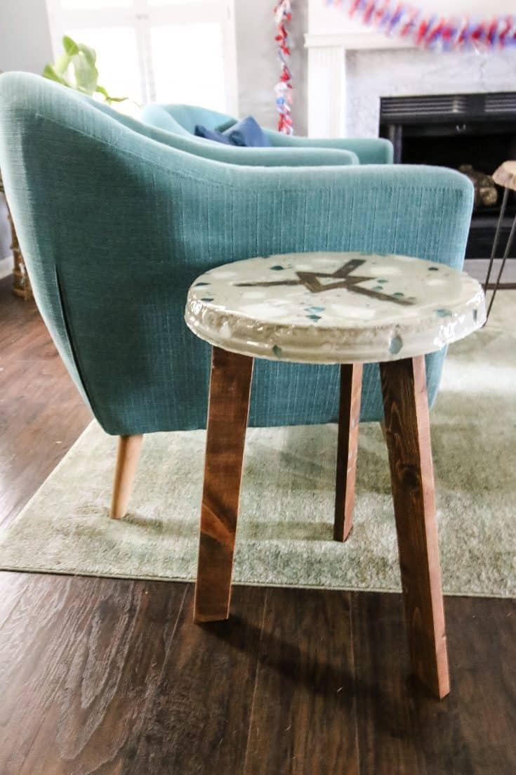 DIY Terrazzo Side Table - Charleston Crafted